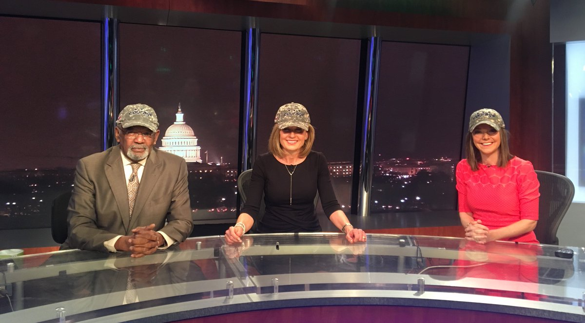 Our @carolmaloney4 hooked the News4 Crew up w/ #CourageCaps and you can buy yours starting today to help support @TAPSorg! #NBC4DC @Capitals<br>http://pic.twitter.com/6PNEHmvaJG
