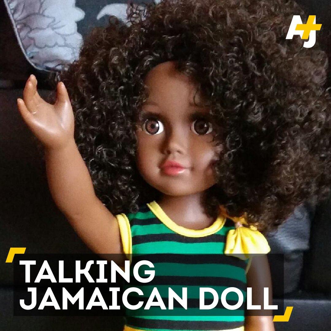 """Wah gwaan?"" This Patois-speaking Jamaican doll is making a positive statement about immigrants."