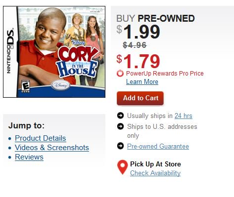 Pre-Owned Cory in the House (DS) $1.99 via GameStop. https://t.co/7oX4IzkFuD https://t.co/wvGhQ3co7E