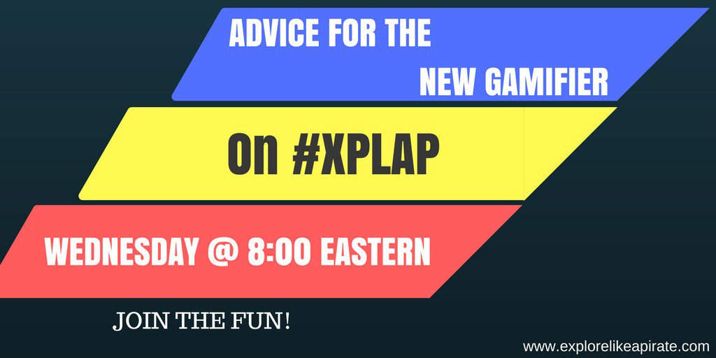 Join #xplap in five for a great chat. Give and get advice on #gamificacion https://t.co/9qgFcFmJuo
