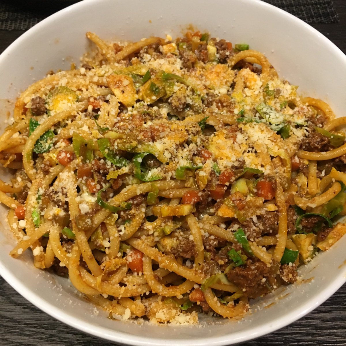 Blue apron bucatini - Matt Salzberg On Twitter Bucatini Pasta Bolognese With Brussels Sprouts Blueapron Https T Co Z3ql6xg2ng