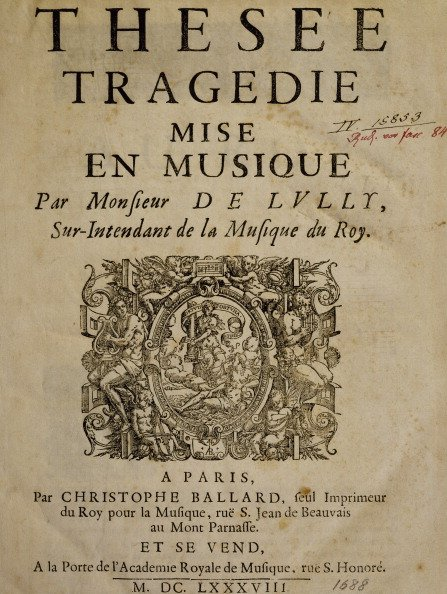 #Today in 1675 FP of #Lully&#39;s opera Thésée in Paris #MusicHistory #classicalmusic <br>http://pic.twitter.com/iFiUyTwz42