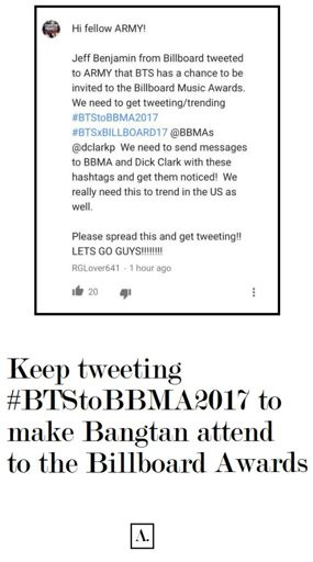 Remember to tweet #BTStoBBMA2017 and #BTSxBILLBOARD17 @BBMAs and @dclarkp guys! -Bonbon<br>http://pic.twitter.com/bvhEO1pD3S