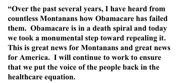Statements rolling in from jubilant Republicans and angry, defiant Democrats. Here's Montana GOP Sen. Steve Daines. https://t.co/Nk8ZKwyMYw