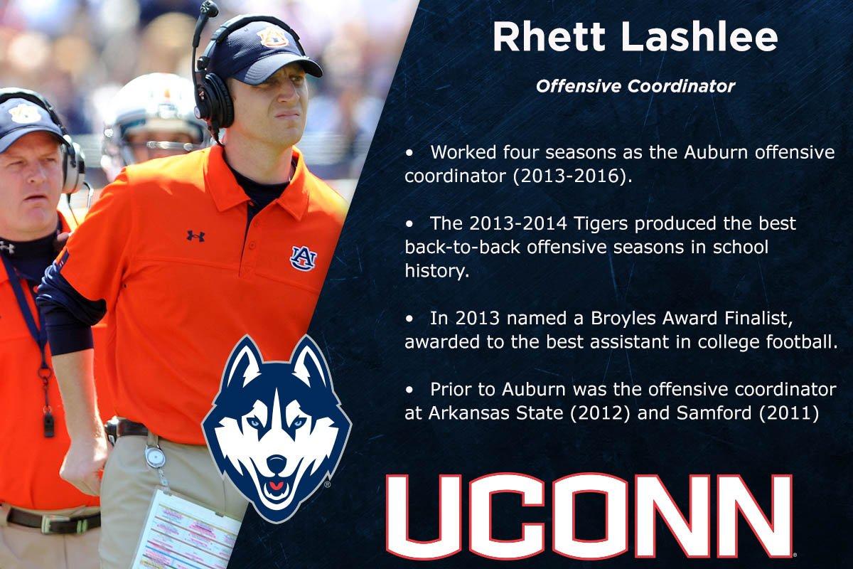 Welcome to UConn new offensive coordinator Rhett Lashlee! https://t.co/wiq5xSyeng