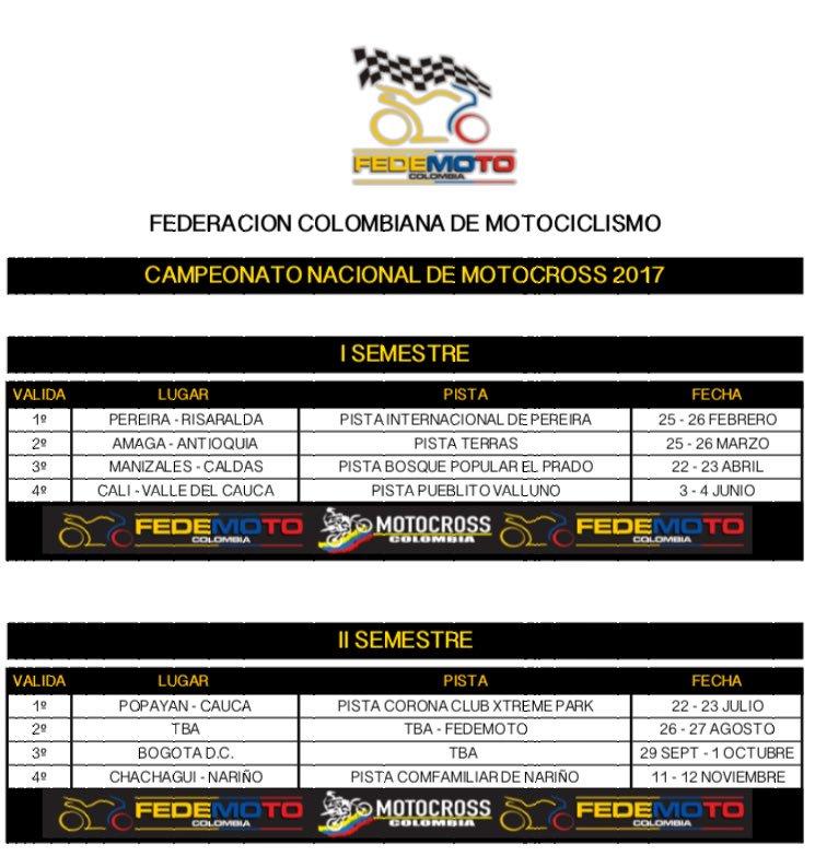 Calendario 2017 Colombia.Motociclismo2017 Hashtag On Twitter