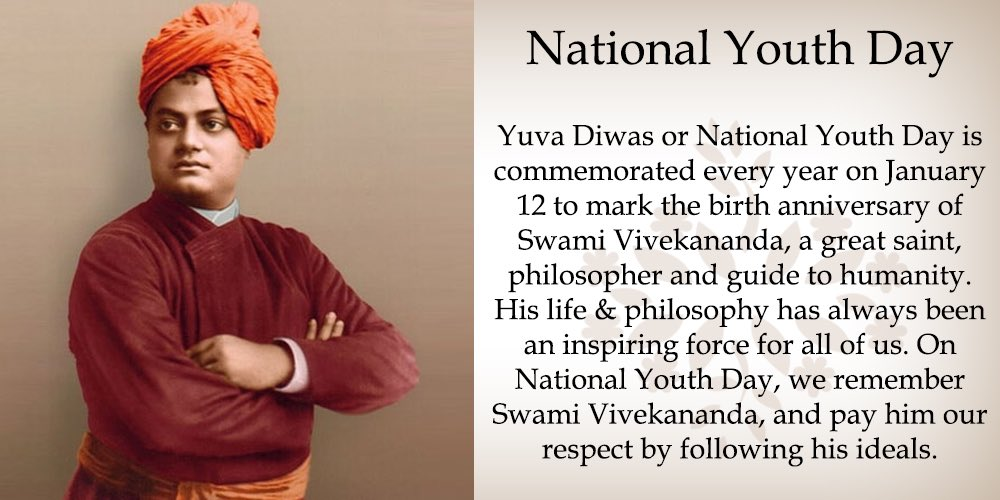 Salutations to the great philosopher-saint #SwamiVivekananda on #Natio...