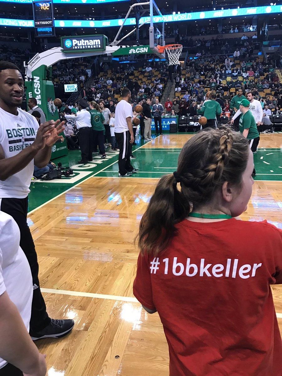 Keller School Best Buddies at the Celtics game