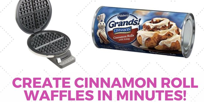 Make Killer Cinnamon Rolls On Your Waffle Iron Quick!