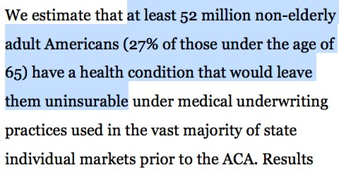 """Meanwhile, @KaiserFamFound says millions of other Americans could be """"uninsurable"""" if ACA goes away. https://t.co/0eHu3ihXCO https://t.co/GkluJRIy0i"""