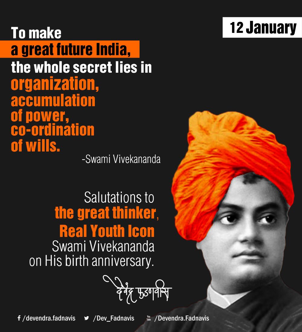 Salutations to the great thinker, Real Youth Icon #SwamiVivekananda ji...