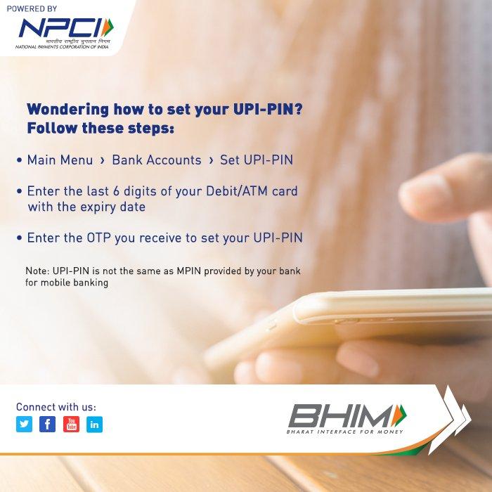 Here's how you set up your UPI-Pin on the BHIM app. #DownloadNow:  https:// bit.ly/BHIMapp  &nbsp;   #BHIMapp #BHIM<br>http://pic.twitter.com/lFnsDmTTY1