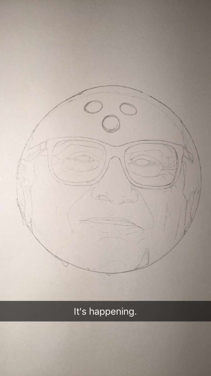Decided to draw the one and only @DannyDeVito as a bowling ball. Will post WIPs later. #alwayssunny #iasip #DannyDevito #SunnyFXX <br>http://pic.twitter.com/dvOU5Ma5LI