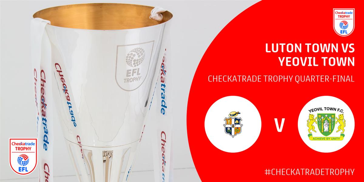 #CheckatradeTrophy Quarter-Final draw: @LutonTown v @YTFC. https://t.c...