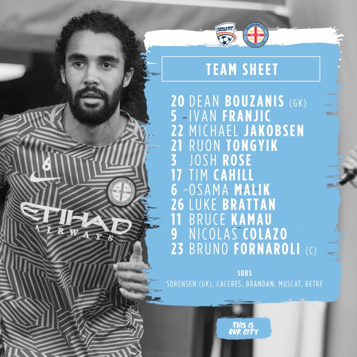 Our team is in for tonight's clash with Adelaide United at Coopers Sta...