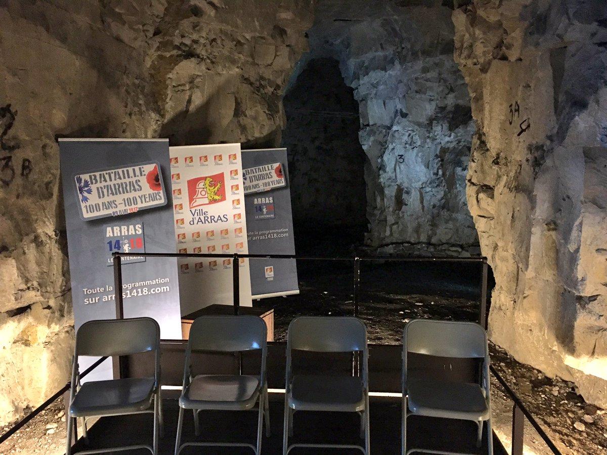 #ConfPresse Présentation de la programmation des commémorations de la Bataille d&#39;#Arras au coeur de la Carr Wellington  #WW1 #Centenaire<br>http://pic.twitter.com/6umWZ9X6KZ