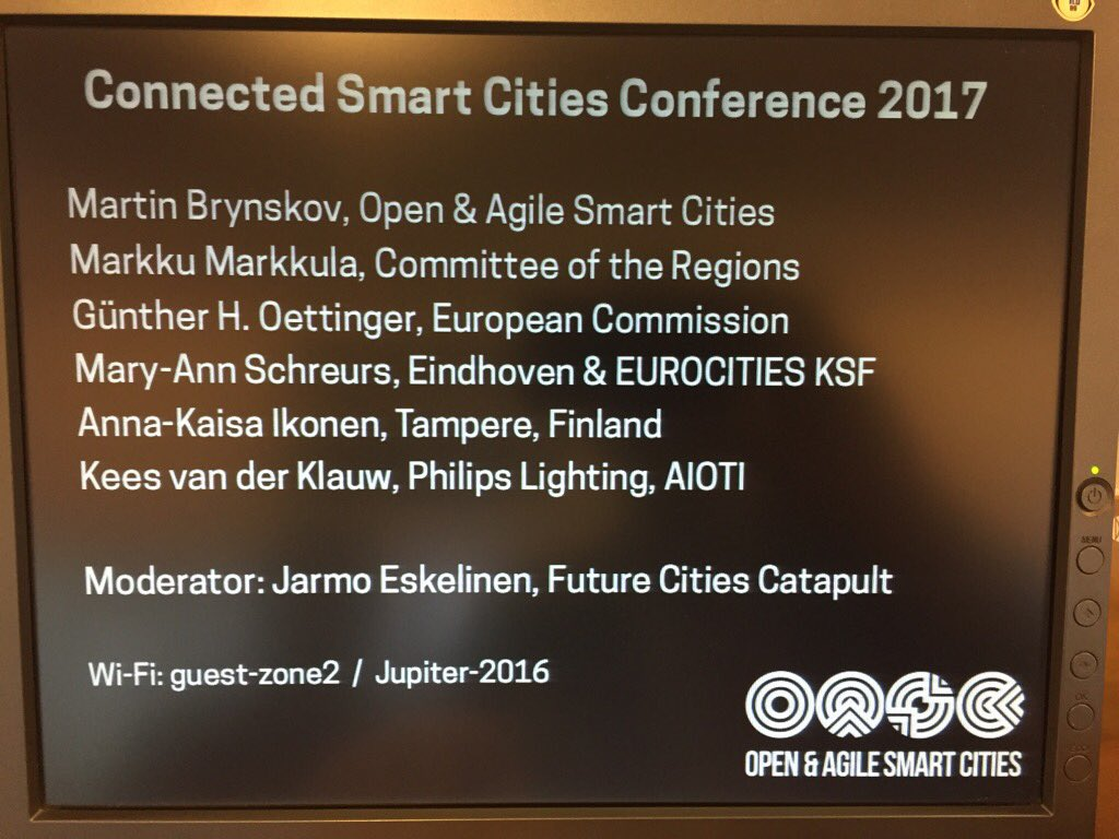 Impressive line-up #Connected #SmartCities #Conference i#Brussels. #RedPlume attending  @oascities https://t.co/DotGSF5Wqf
