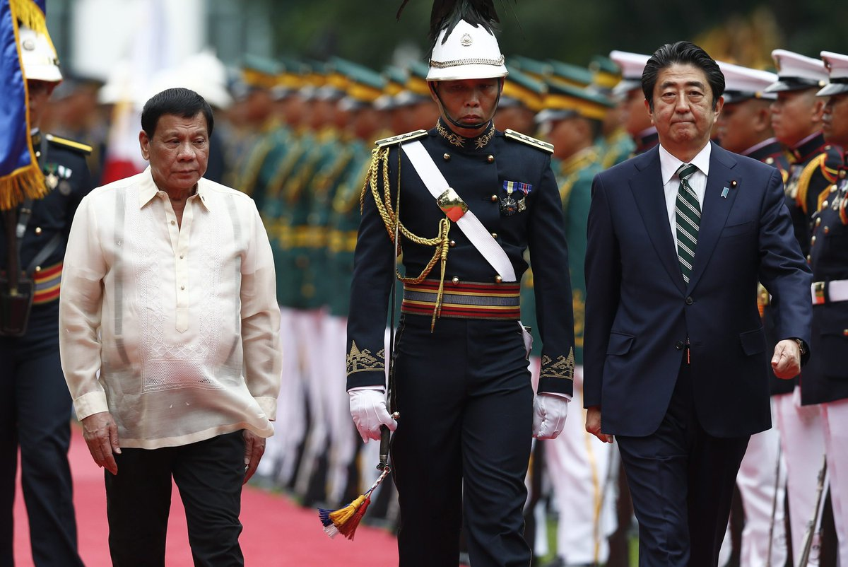 Japan Prime Minister Shinzo Abe first foreign leader to visit Duterte's
