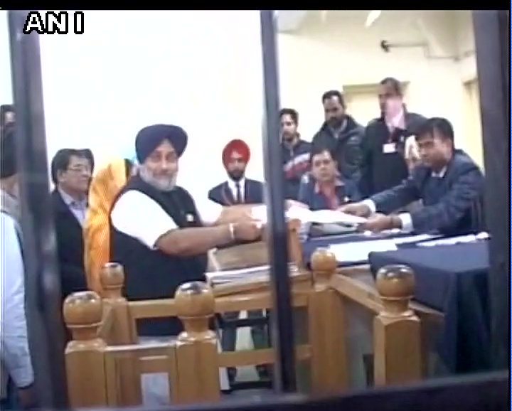 Punjab: Deputy CM Sukhbir Singh Badal files nomination from Jalalabad for upcoming Assembly polls