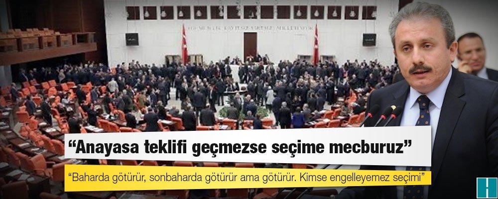 AKP'li Mustafa Şentop: Anayasa teklifi geçmezse seçime mecburuz  https...