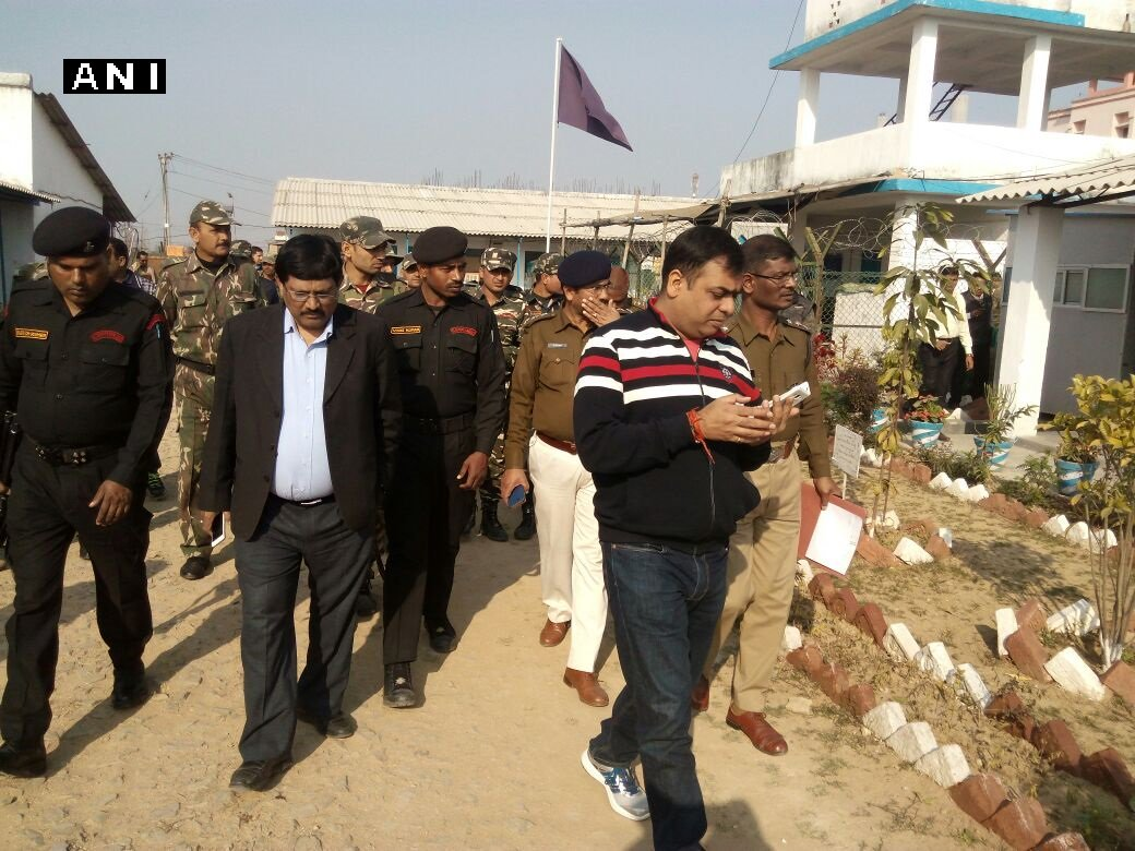 CISF DG and IG in Aurangabad (Bihar), where a CISF jawan shot 4 other jawans.