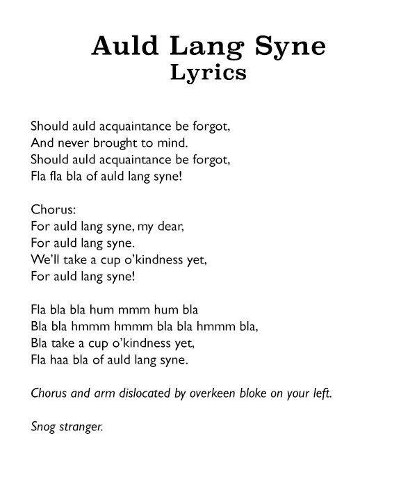 photo about Auld Lang Syne Lyrics Printable referred to as David Schneider upon Twitter: \
