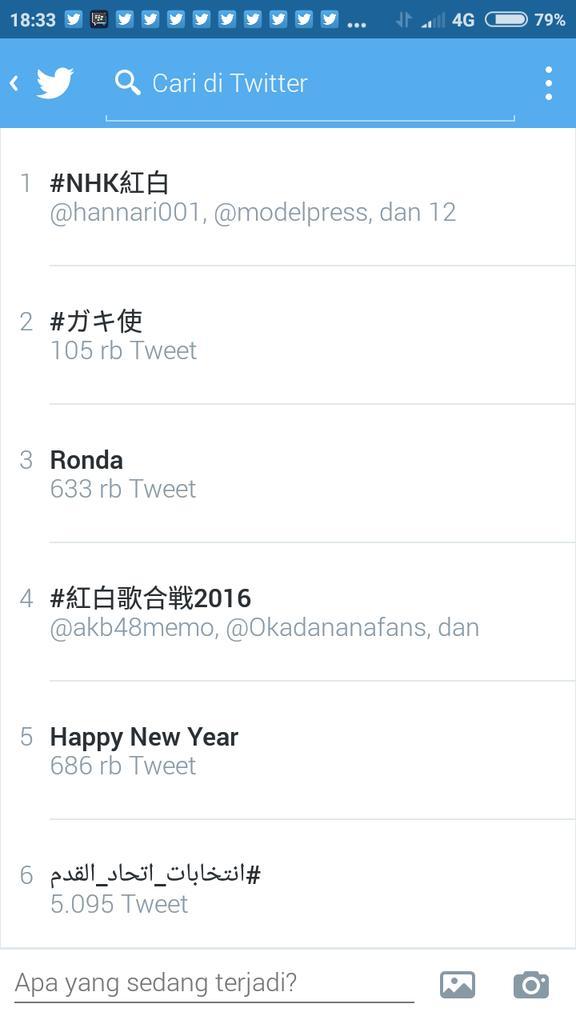 Hastag #NHK紅白 [67th NHK Kouhaku Uta Gassen 2016] To Be Trending Topic In The World (1st) #AKB48 #乃木坂46 #欅坂46<br>http://pic.twitter.com/zs5ZBoTjoQ