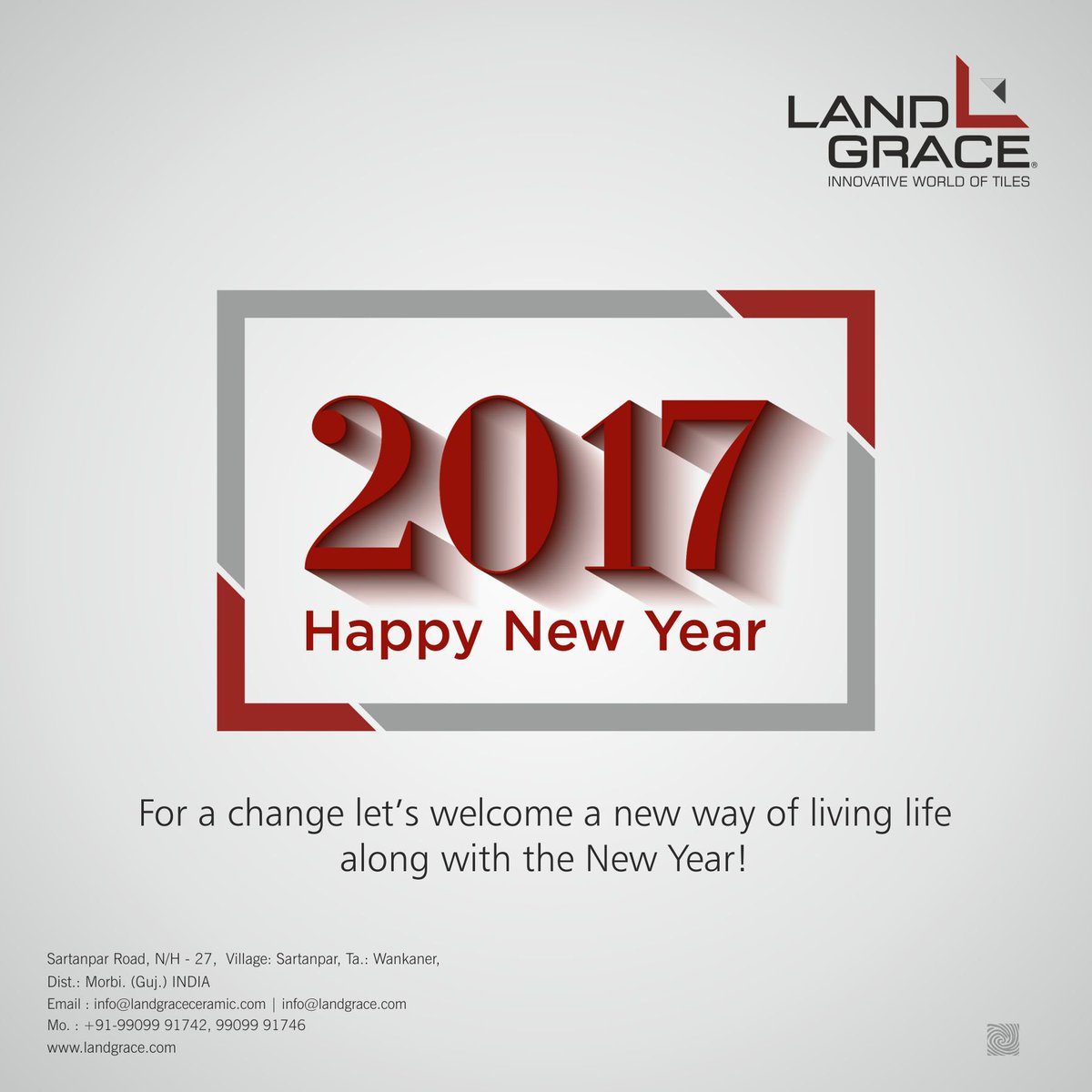 landgrace ceramic on twitter for a change lets welcome a new way of living life along with the new year happy new year landgraceceramic wishes