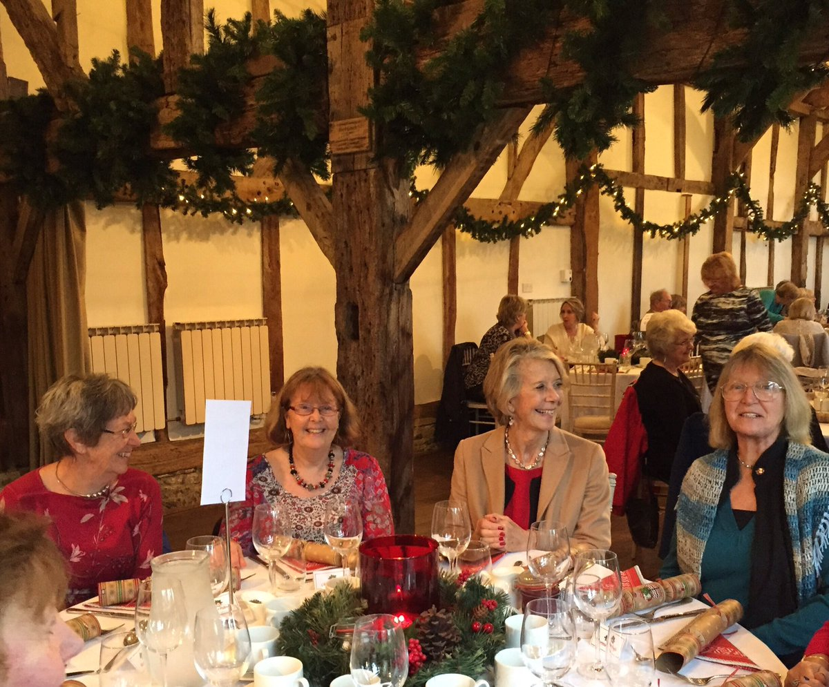 RT @LVDFAS Members of Lavant Valley DFAS enjoying Christmas lunch at Loseley Park