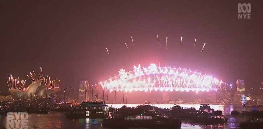 Sydney rings in the new year with spectacular fireworks show