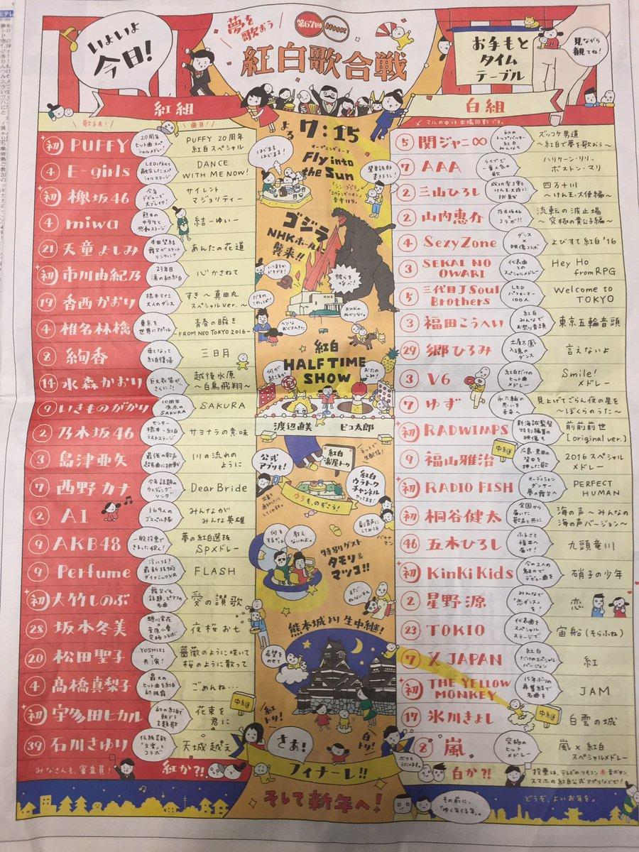 新聞広告のお手もとタイムテーブルが見やすくてすごく良い!#NHK紅白 <br>http://pic.twitter.com/GdFhuS1a3u