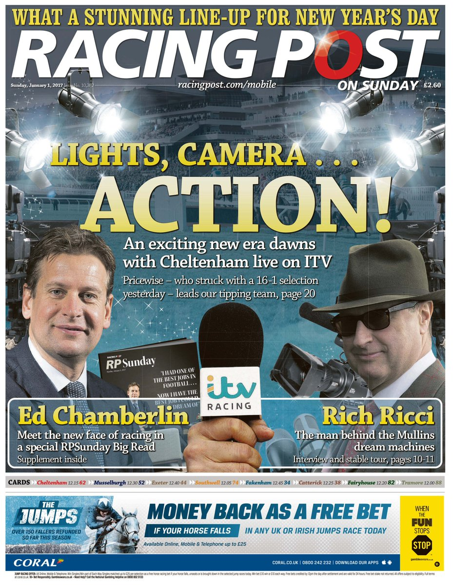 In tomorrow's racing post: cheltenham tips from pricewise and paul