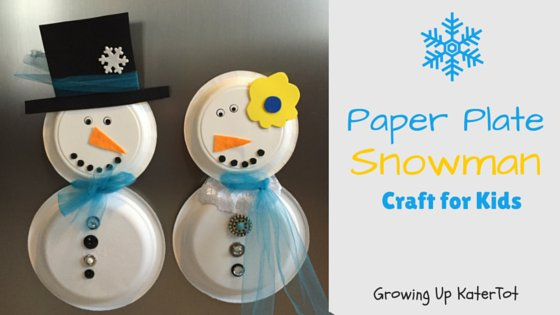 Paper Plate Snowman: Craft for Kids