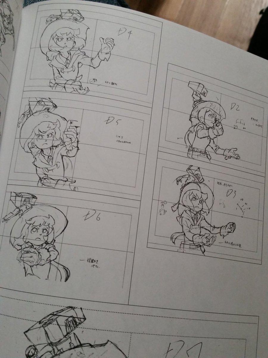 TAKAFUMI HORI KEY ANIMATION NOTE Little Witch Academia KLK Steaven Universe