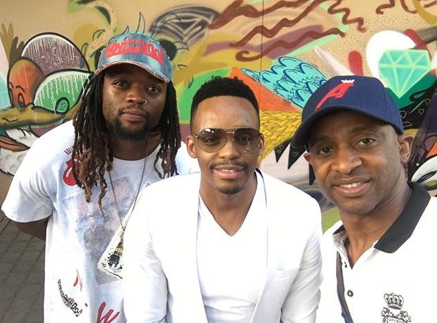 @buffalosouljah1, @DonaldInDenial and @ArthurMafokate, supporting local talent at #JoburgNYE ^NS https://t.co/qY7NUdqjyX