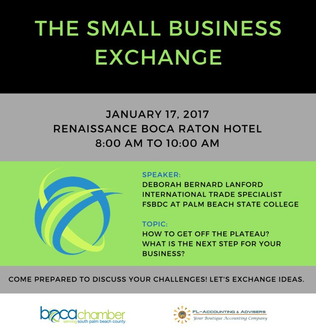 @bocachamber Small Biz Exchange Tue Jan 17 8AM @renaissanceboca Hotel 2000 NW 19th St Boca Raton, FL 33431 https://t.co/VMC14MHAFX https://t.co/ORkERA24iQ