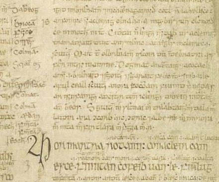 Jan 1: Feast of Broccán son of Éndae, Sceithe, Fintan son of Toicthech, Fintan son of Eochaid & Eochaid [UCD A7 f5r] https://t.co/0W5dNcXH8N