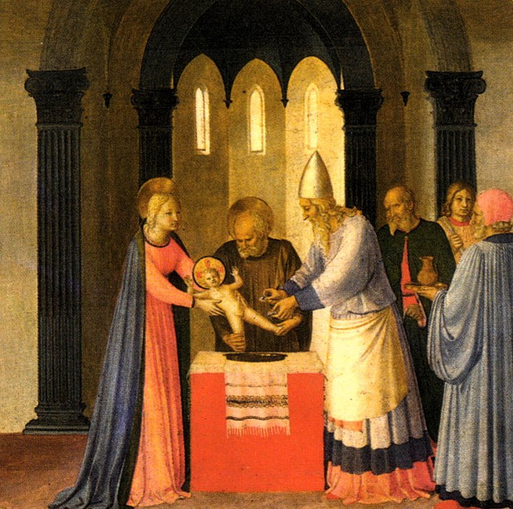 Jan 1: Feast of the Circumcision of Jesus, 8 days after his birth; also formally given his name [Fra Angelico] https://t.co/xCZOfUFqKw