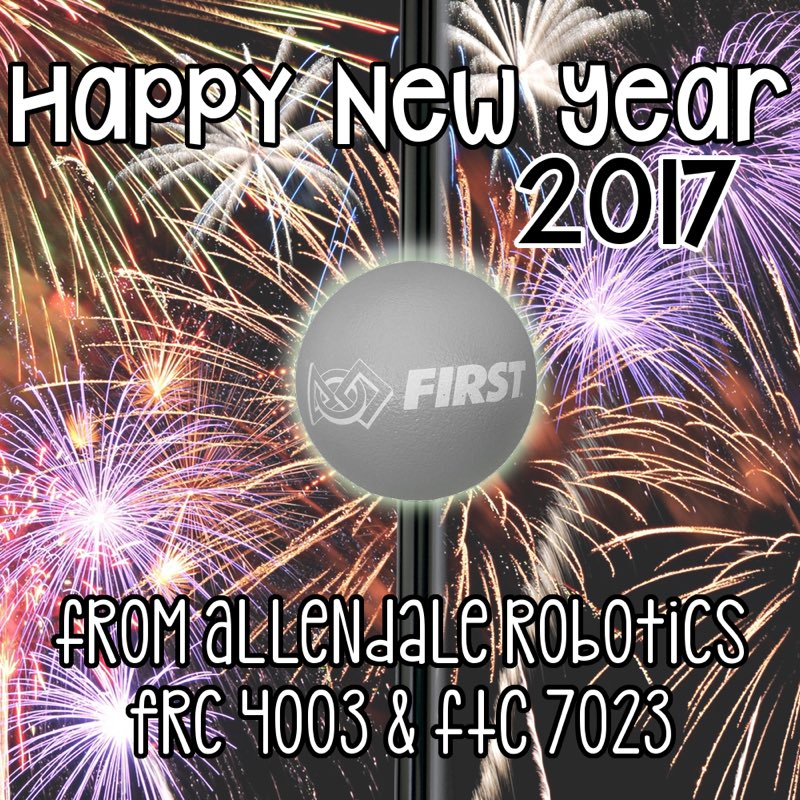 The Trisonics On Twitter Happy New Year From Allendale Robotics