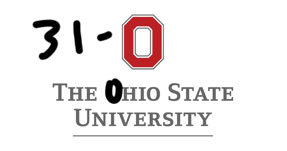 THE 0hio State in #FiestaBowl vs #Clemson 31-0 with 5:48 left in game. https://t.co/tPULdufSM8