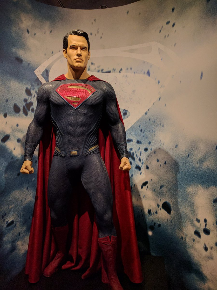 Superman Figure for Batman VS Superman Movie in Warner Bros. Museum