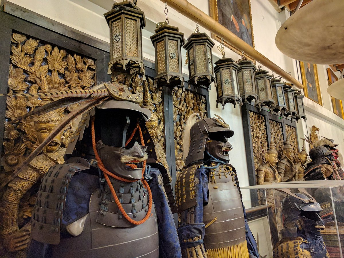 Samurai Costumes in Inception Movie at Warner Bros. Studio Tour Hollywood in Burbank, California