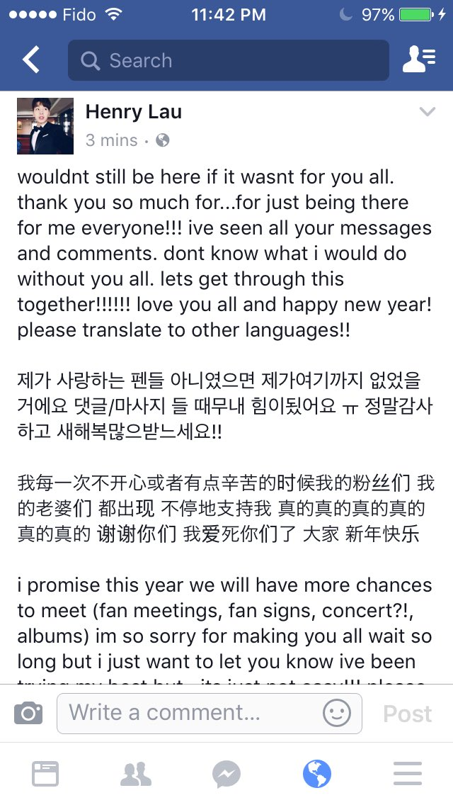 henry hears us and he has posted how he felt on facebook 2017 will be a good yearim sure of it justiceforhenrylau pictwittercomkko6o6arzd