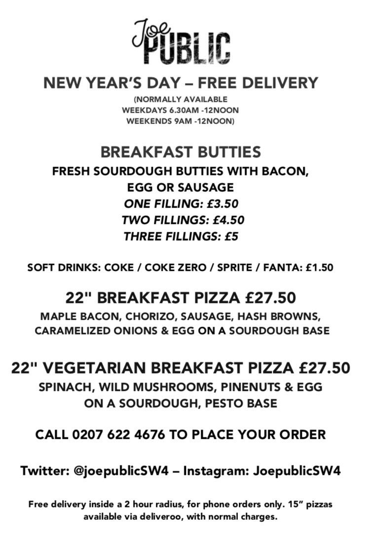 Joe Public Pizza On Twitter Special Deal For Locals Today