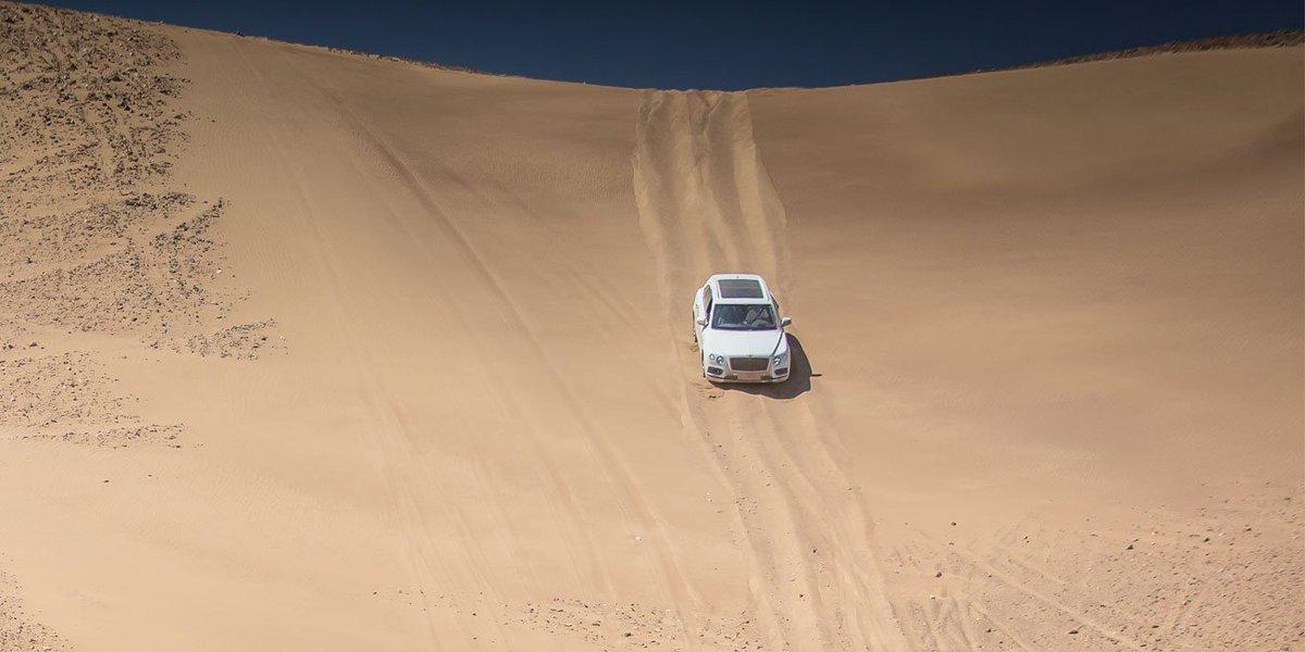 The road ahead isn\'t always a road. Explore #Bentayga: