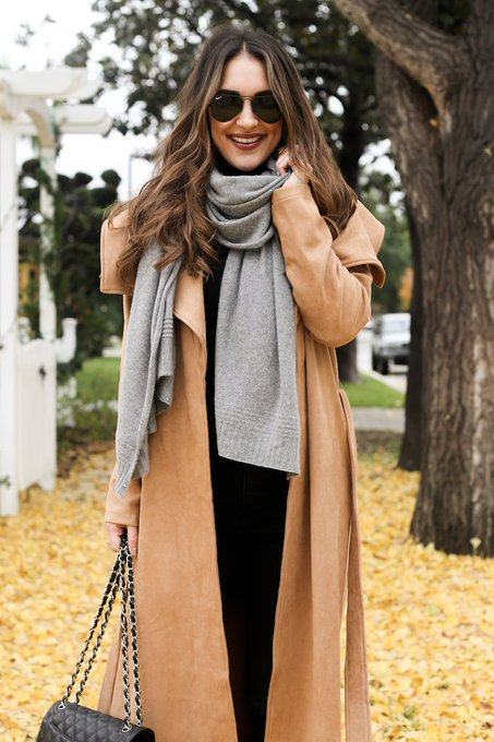 The Perfect Camel Wrap Coat
