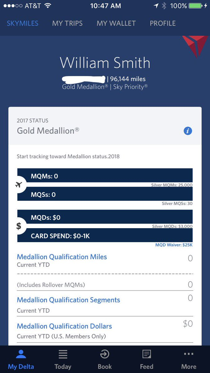 Delta On Twitter Hi William Thx For Your Support Being A Loyal Delta Medallion Member Rollover Miles Will Post By Jan 31 2017 Jh