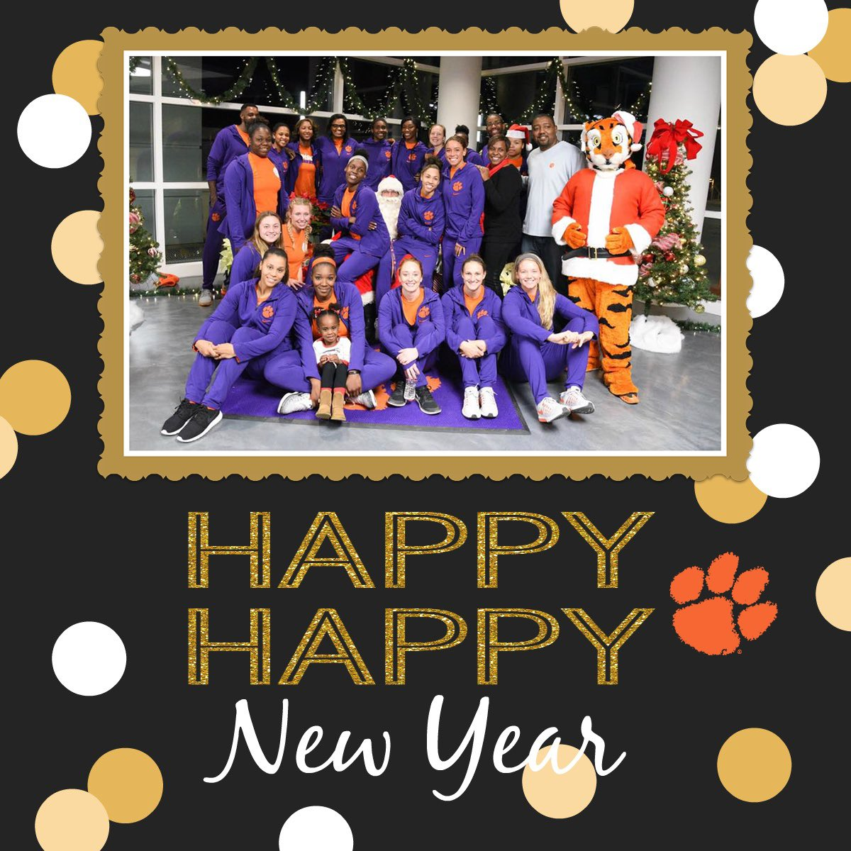 Happy New Year from the #ClemsonWBB players & staff! We hope everyone has a blessed & wonderful 2017! #ClemsonFamily https://t.co/eKGpkcEqXv