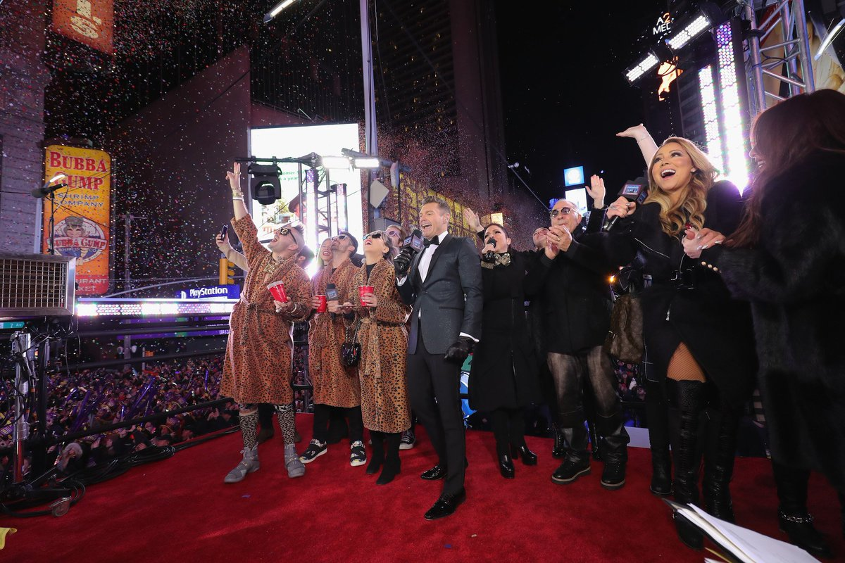 The #RockinEve Times Square Class of 2017 after the Ball drop! https:/...