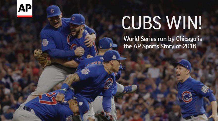 The Chicago @Cubs World Series title voted top AP sports story of 2016 http://apne.ws/2iB65Rl @jcohenAP #YE16
